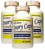 "(3 Pack) Ivory Caps **BEST VALUE**- Maximum Potency Glutathione 1500 ""Skin Whitening"" Complex"