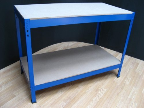 DIY Garage Warehouse Workshop Heavy Duty Boltless Blue Work Bench
