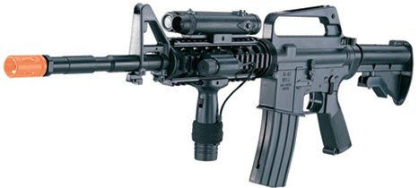 M16-A4 Airsoft Rifle  LED illuminator, laser