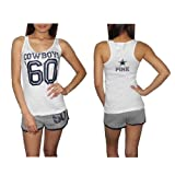 Pink Victoria's Secret レディーズ Womens NFL Dallas Cowboys #60 スポーツタンクトップとショーツセットSports Tank Top and Shorts Set - 白 & グレー White & Grey