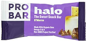 Probar Halo, The Sweet Snack Bar, S'mores, 1.3 Ounces (12 Count)