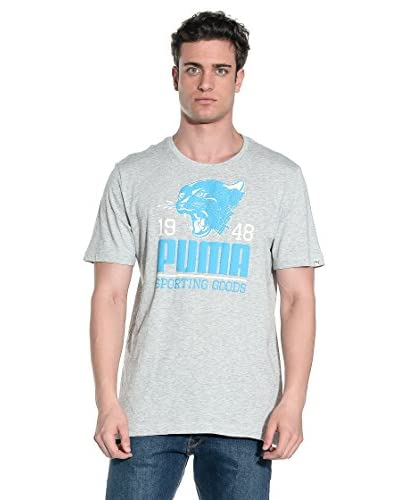 PUMA T-Shirt Manica Corta Style Athl Tee [Grigio]