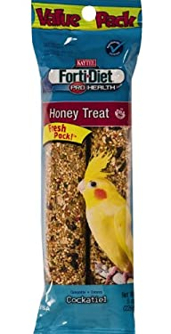 Kaytee Pet Products BKT100502949 Forti-Diet Pro Health Honey Cockatiel Treat Stick Value Pack,…
