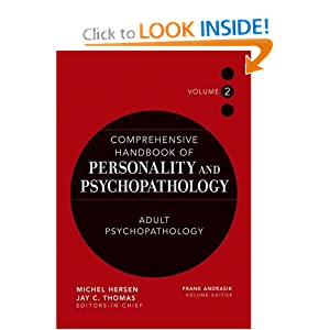 Comprehensive Handbook of Personality and Psychopathology , Adult Psychopathology (Volume 2) - Frank Andrasik