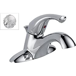 Delta 521-DST-A Classic Single Handle Centerset Lavatory Faucet, Chrome
