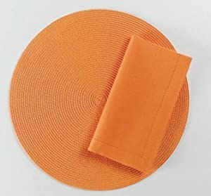 TAG Round Woven Orange Placemat
