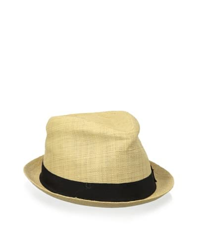 Block Headwear Men's Woven Raffia Straw Rocky Fedora