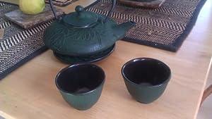 Japanese Cast Iron Tea Set  Mochi Bamboo Green by Kafu
