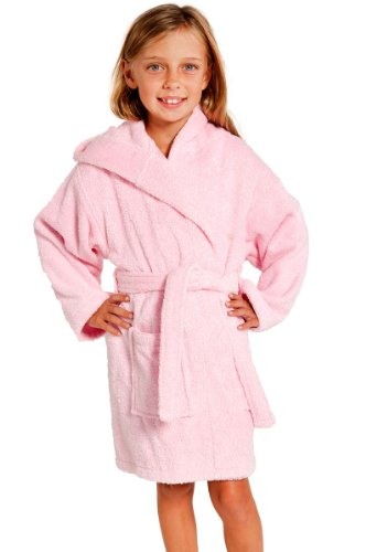Cheap Kids Hooded Terry Turkish Robe Bathrobe 100 Cotton Pink Small Medium  Age 3 6 7b7928264