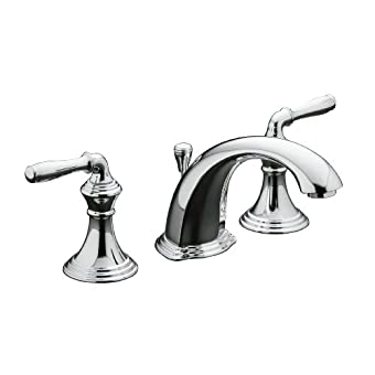 Kohler K-394-4-CP Devonshire Widespread Bathroom Faucet (Polished Chrome)