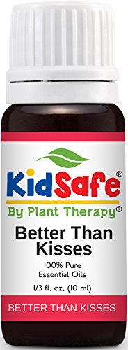 KidSafe Better Than Kisses Synergy Essential Oil Blend 10 ml (1/3 oz). 100% Pure, Undiluted, Therapeutic Grade. (Blend of: Lavender, Marjoram, Cypress, Tea Tree and Tansy Blue.)