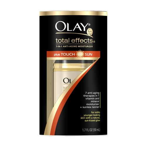 Olay Total Effects 7-in-1 Anti-Aging Daily Moisturizer, Touch of Sun, 1.7 Ounce