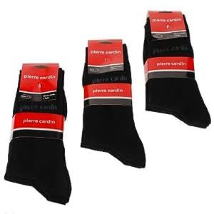 Lot 6 paires de Chaussettes Noire Pierre Cardin Neuve Du 39 au 42 Cotton