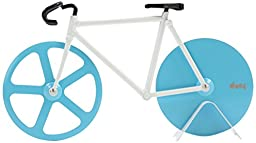 Doiy Bicycle Pizza Cutter Blue and White