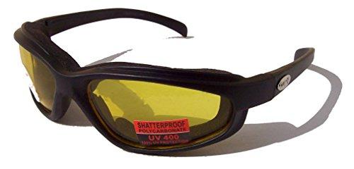 Curv-Z-rembourr-pour-motomotard-compatible-avec-lunettes-de-soleil-Jaune-avec-tui-gratuit