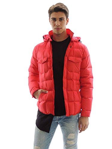 Piumino uomo Aspesi con cappuccio removibile rosso 6I18G503 (XL)