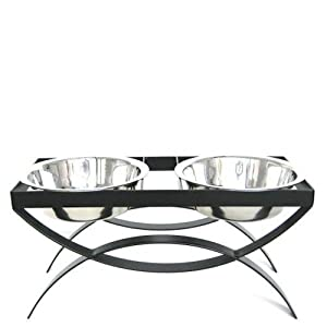 "Seesaw Double Bowl Elevated Diner - 10"" - Raised Feeder"