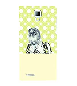 PrintVisa Stylish Cool Girl Sad 3D Hard Polycarbonate Designer Back Case Cover for Micromax Canvas Xpress A99