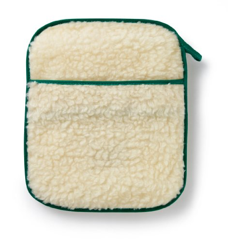 Hotties Microhottie Microwave Hot Water Bottle - Acrylic Lambswool Fleece - Cream