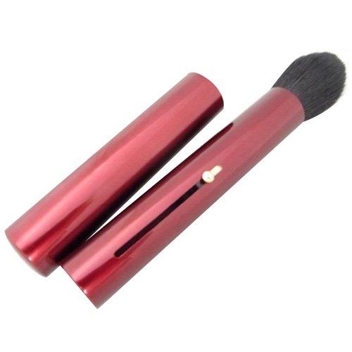 持ち運びに便利な携帯チークブラシ 携帯用チークブラシ 赤
