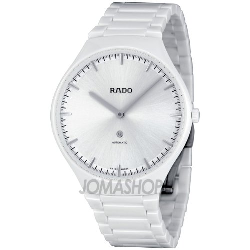 Rado True Thinline White Dial Automatic Cermaic Unisex Watch R27970102