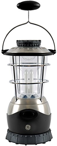 Ge 17032 Steel Beam Dual Light System Led/Fluorescent Lantern