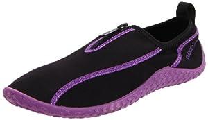 Speedo Women's Zipwalker Water Shoe,Black/Purple,10 M US