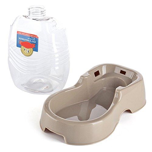 Portable Dog Cat Pet Puppy Drinker Fresh Water Bottle: Flexzion Pet Waterer Dispenser