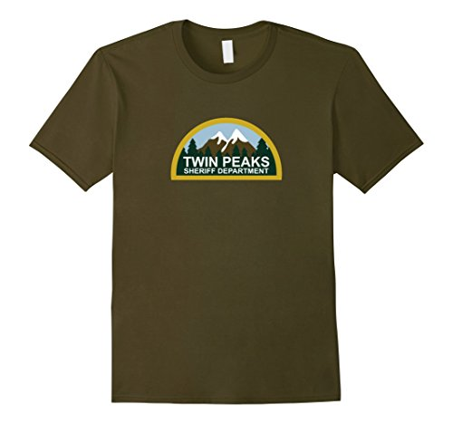 Men's T-WIN PEAKS t shirt Small Olive (Win Peaks compare prices)