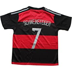Buy 2014 GERMANY AWAY SCHWEINSTEIGER 7 FOOTBALL SOCCER KIDS JERSEY FREE GIFT INCLUDED by DFB