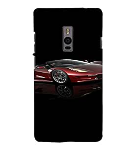PrintVisa Sports Car Design 3D Hard Polycarbonate Designer Back Case Cover for One Plus Two