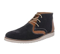 Etromilano Mens Roberto Navy Genuine Leather Ankle Boot 8 UK
