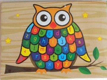 Owl Shaped Educational Foam Jigsaw Puzzle (Abc - 123)
