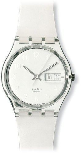 Swatch Unisex Snowcovered White Dial Watch