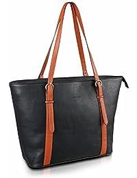 Kooltopp Kiara Women's Tote Bag, Medium Size Tote Bag - Black