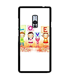 Printvisa Love Animated Kids Back Case Cover for One Plus Two::One Plus 2::One+2