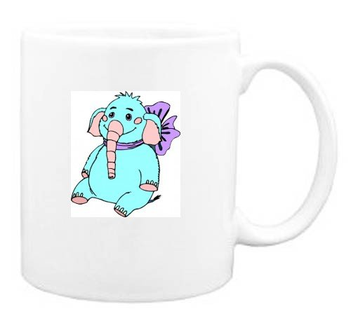 Mug with bow, stuffed, elephant, animal