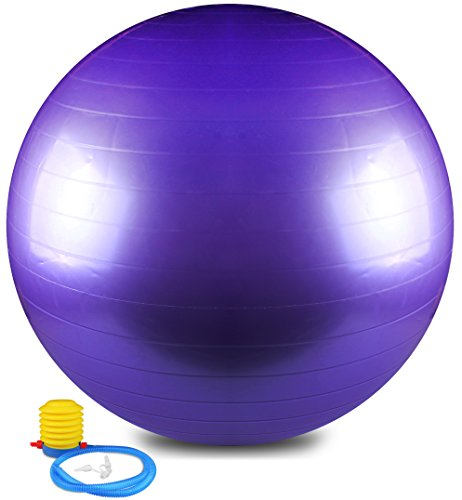 Anti Burst and Slip Resistant Yoga Ball - Exercise Ball, Fitness Ball, Total Body Balance Ball By Utopia Home (75 CM)