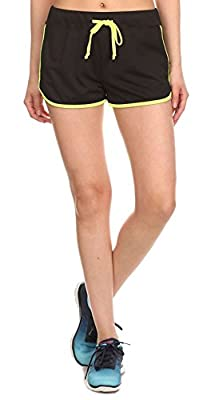 Simplicity Women Sports Gym Yoga Shorts with Drawstring