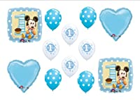 Baby Mickey Mouse Birthday 1st First Party Balloons Decorations Supplies