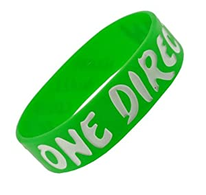 Green I Love One Direction Wristband I Love One Direction Bracelet 1 Wide 5 by Hinky Imports