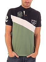 Clk Polo (Verde / Azul Marino)