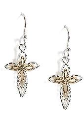 Jody Coyote Earrings RE-0811-08 Rejoice Collection cross dangle