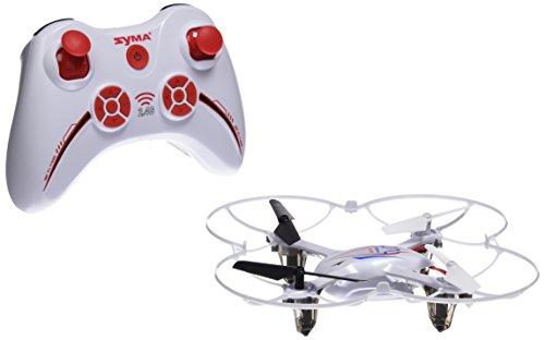 Syma X11C - Mini Drone Cuadricóptero RC, Air RTF (2.0 Mp Cámara, 4 Canales, 2.4GHz, Luz LED), Blanco
