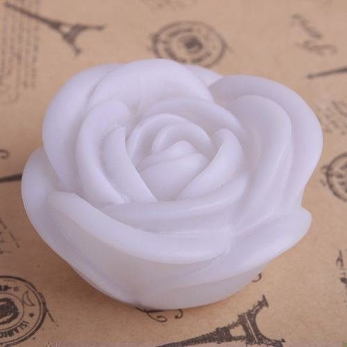 7 Color Changing Rose Flower Led Light Night Candle Lamp Romantic Wedding Party (Random Colour)