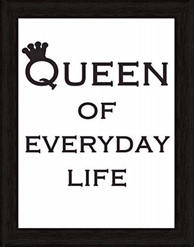 Bild mit Rahmen Kunstdruck Bilder Artland Schrift Jule: Königin für jeden Tag in verschiedenen Größen Riesenauswahl in unsrem Händlershop!