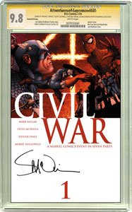 Civil War #1 Steve McNiven Variant Cover Signed by Steve McNiven CGC Signature 9.8 - Buy Civil War #1 Steve McNiven Variant Cover Signed by Steve McNiven CGC Signature 9.8 - Purchase Civil War #1 Steve McNiven Variant Cover Signed by Steve McNiven CGC Signature 9.8 (CGC, Toys & Games,Categories,Games,Card Games,Collectible Trading Card Games)