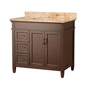 foremost asgasets3722dr ashburn 37 inch width x 22 inch depth vanity with stone effects tuscan. Black Bedroom Furniture Sets. Home Design Ideas