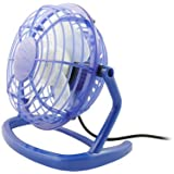 GreyMobiles BLUE USB Retro Desk Fan With MAINS ADAPTORby GreyMobiles