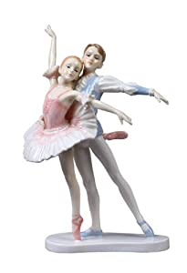 8.75 inch Porcelain Perfect Partner Young Boy and Girl Ballet Partners